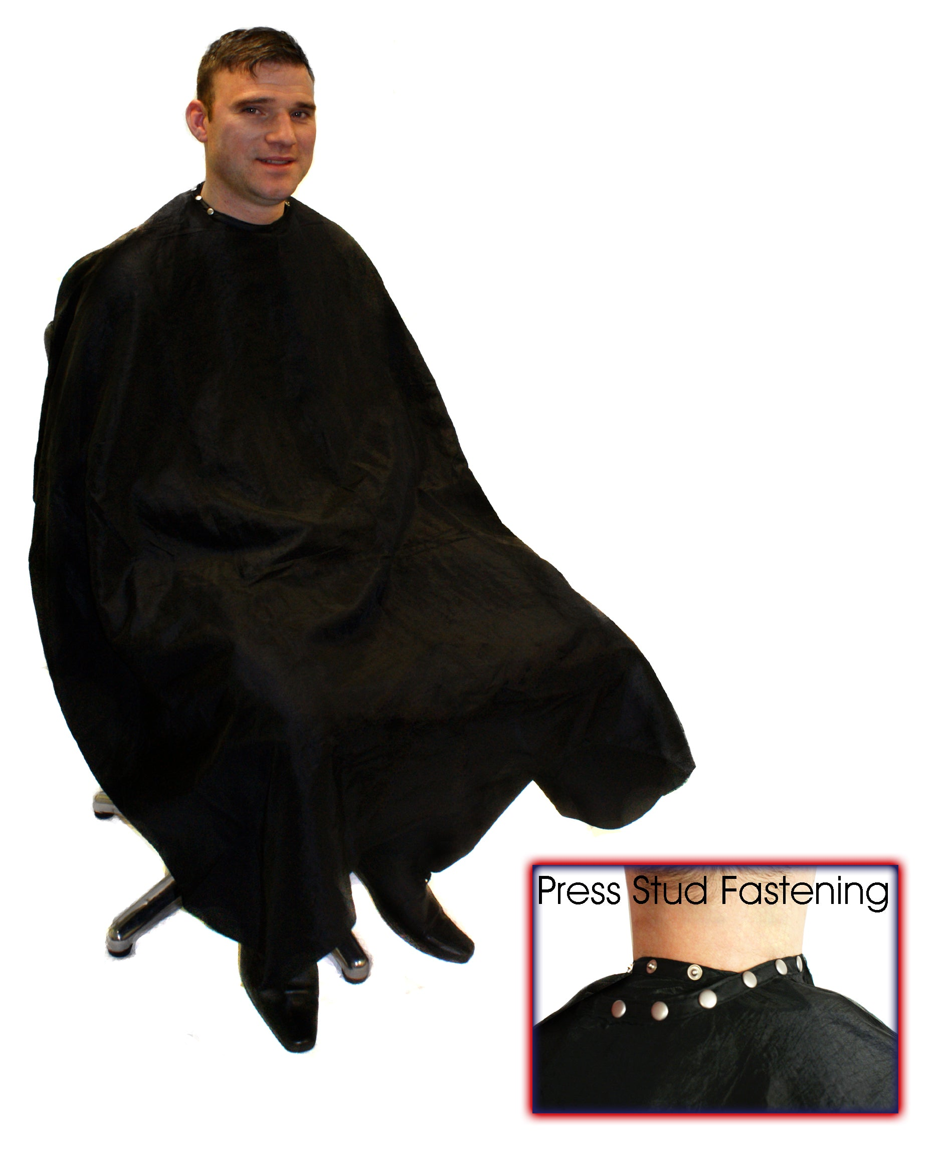 HairTools - Deluxe Barber Gown with Poppers