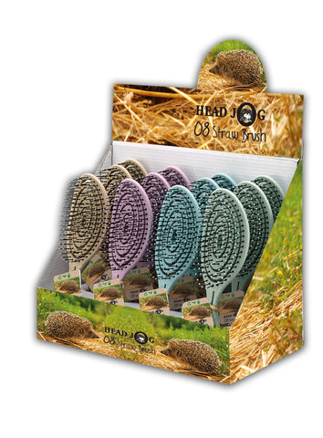 HJ08 STRAW BRUSH DISPLAY (12 BRUSHES)