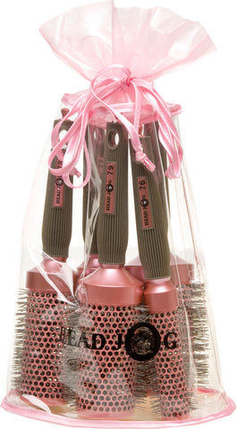 Oval bag Pink Brush Set