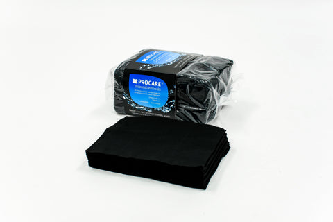 PROCARE Disposable Black Towels 40cm x 80cm (50 nos)