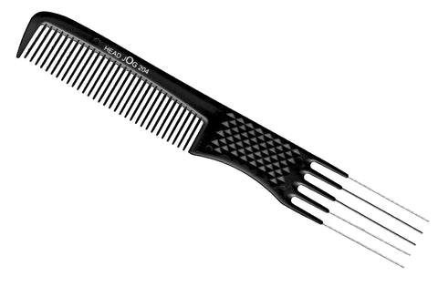 Head Jog 204 Metal Pin Comb Black