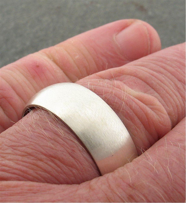 White gold court broad wedding ring. - Cumbrian Designs