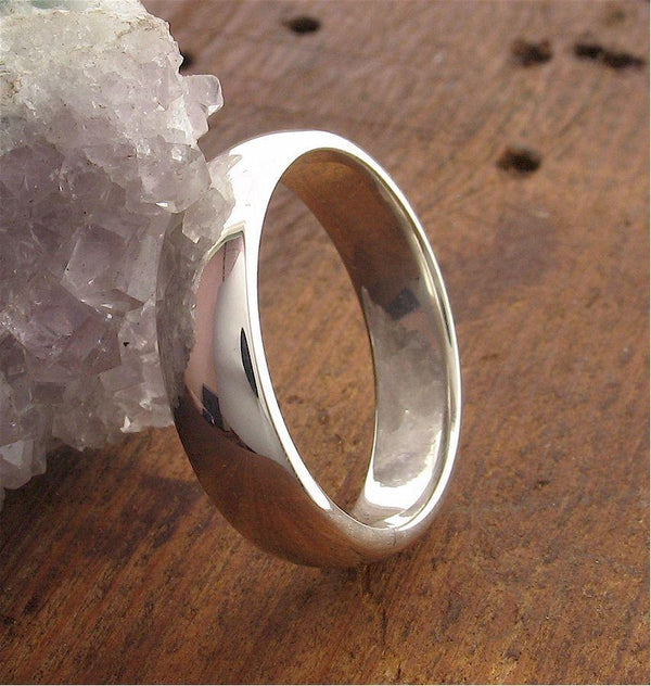 Platinum court broad wedding ring. - Cumbrian Designs