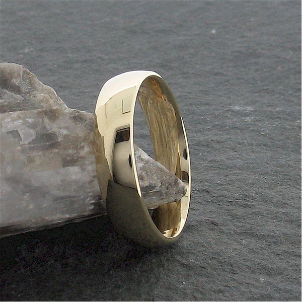 Gold court broad wedding ring. Classic Wedding Rings Richard Harris Jewellery