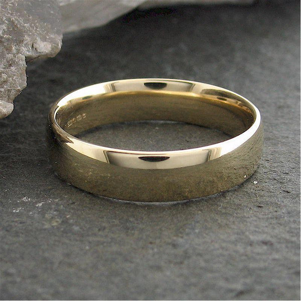 Gold court broad wedding ring. - Cumbrian Designs