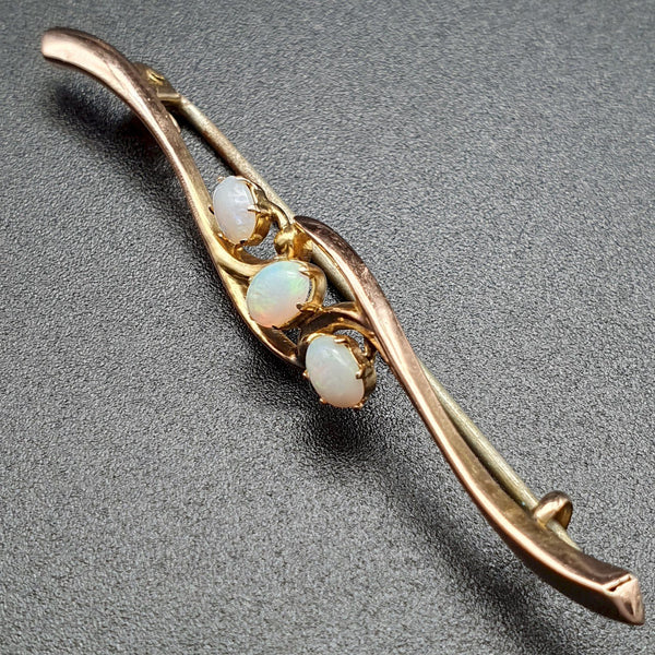 Antique opal gold bar brooch - Cumbrian Designs