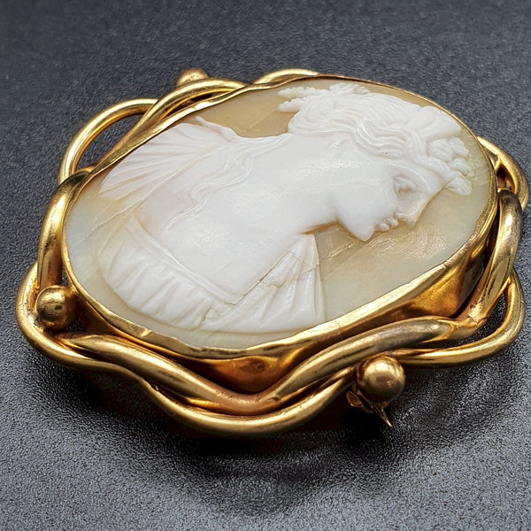 Antique cameo large Victorian brooch - Cumbrian Designs