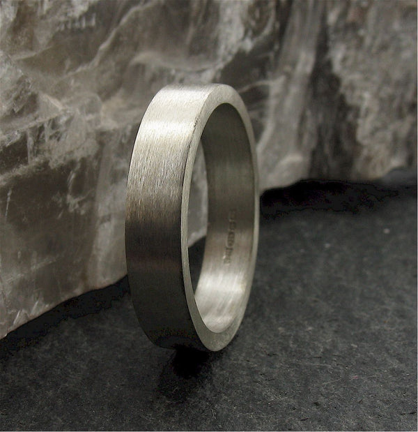 Platinum flat thin wedding ring Classic Wedding Rings Richard Harris Jewellery