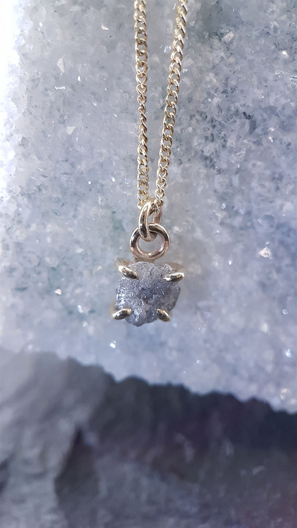Diamond 1ct necklace with gold chain. - Cumbrian Designs