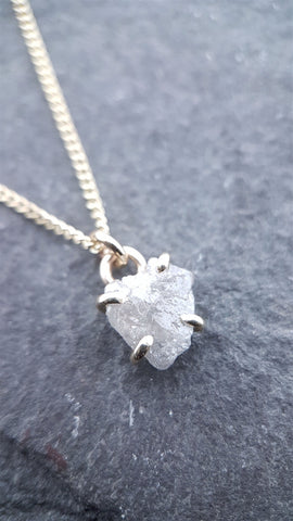 Diamond gold necklace with 18 inch chain. - Cumbrian Designs