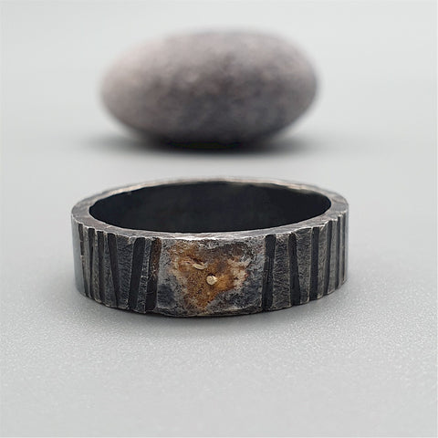 Wedding ring, Sunset rustic design.