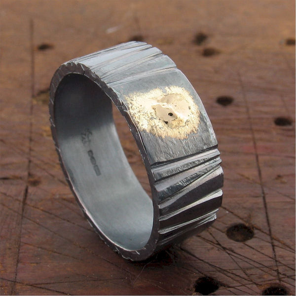 Wedding ring, Sunset rustic design. - Cumbrian Designs