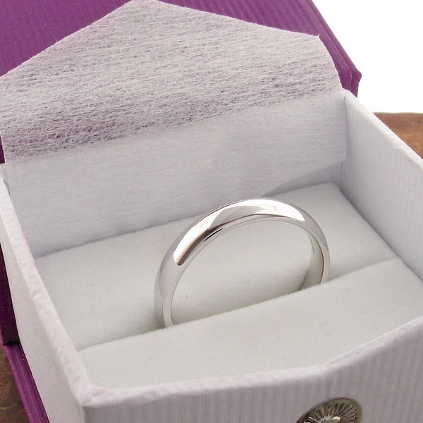Silver court thin wedding ring Classic Wedding Rings Richard Harris Jewellery