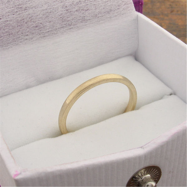 Gold court thin wedding ring. - Cumbrian Designs