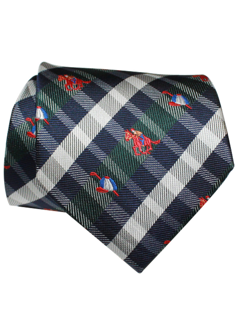 TAM WARE Men's Fashion Plaid Embroidered Necktie