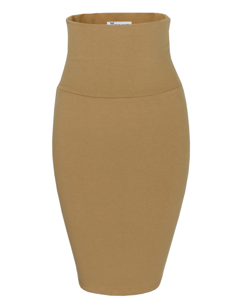 TAM WARE Women's Casual Convertible Knee Length Pencil Skirt
