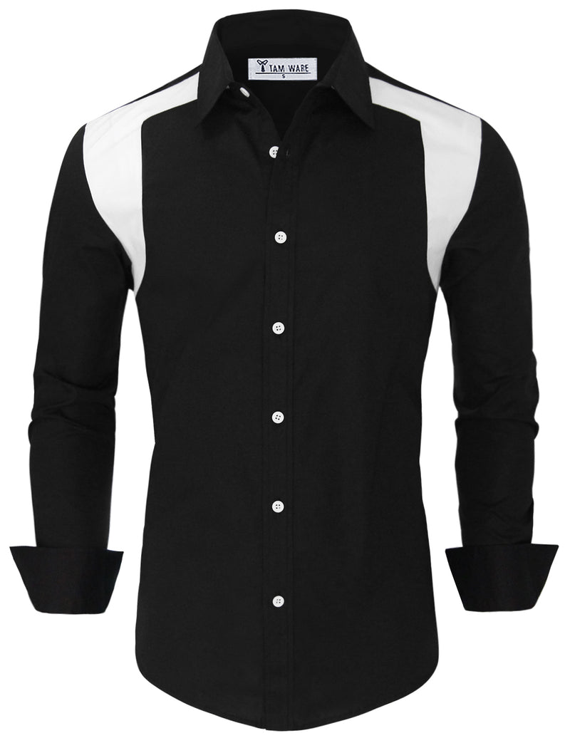 TAM WARE Men's Stylish Two Toned Button Down Shirt