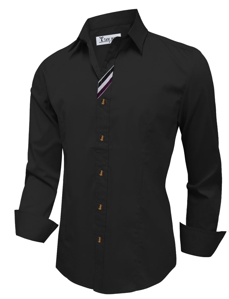 TAM WARE Men's Stylish Long Sleeve Button Down Shirt