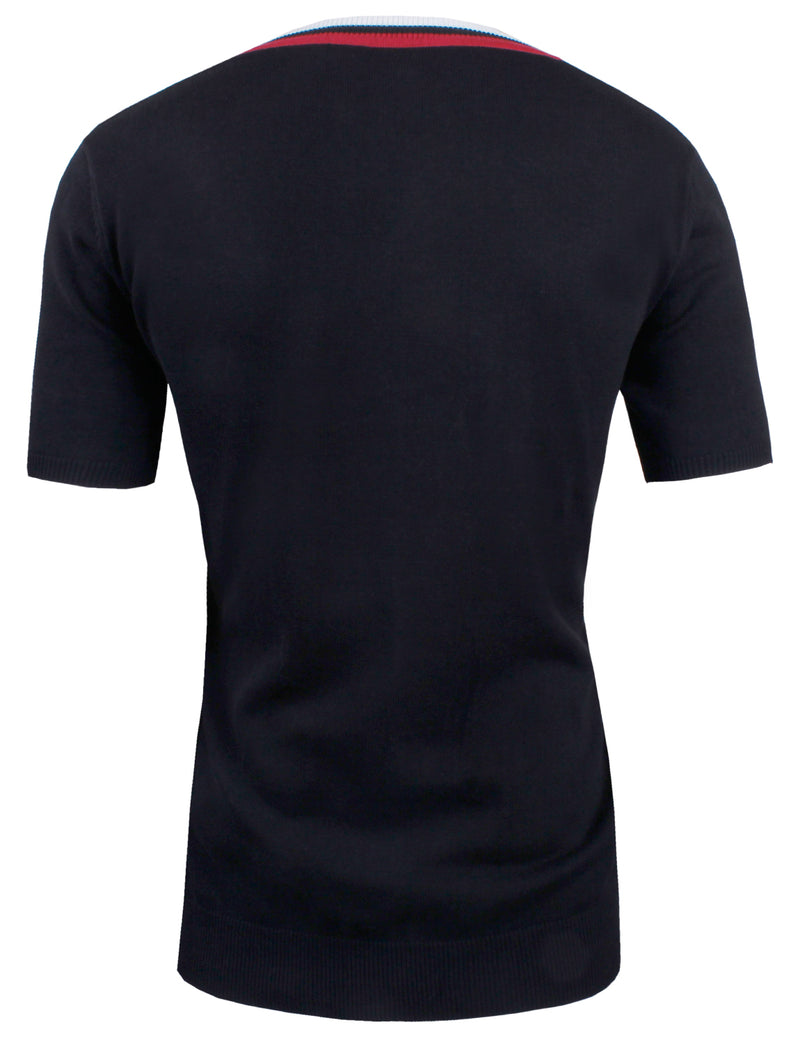 TAM WARE Men's Casual Slim Fit Basic V-neck Short Sleeve T-Shirt