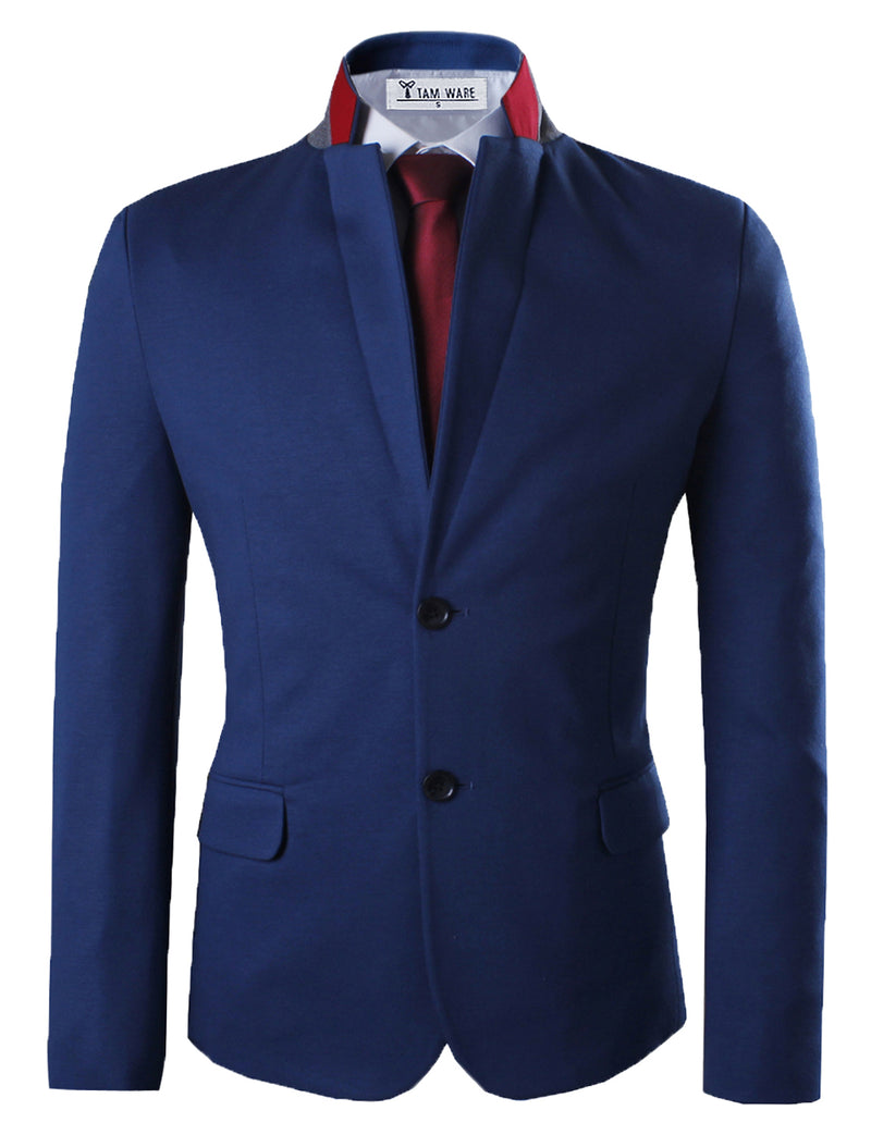 TAM WARE Men's Premium Slim Fit Structured Twill Blazer