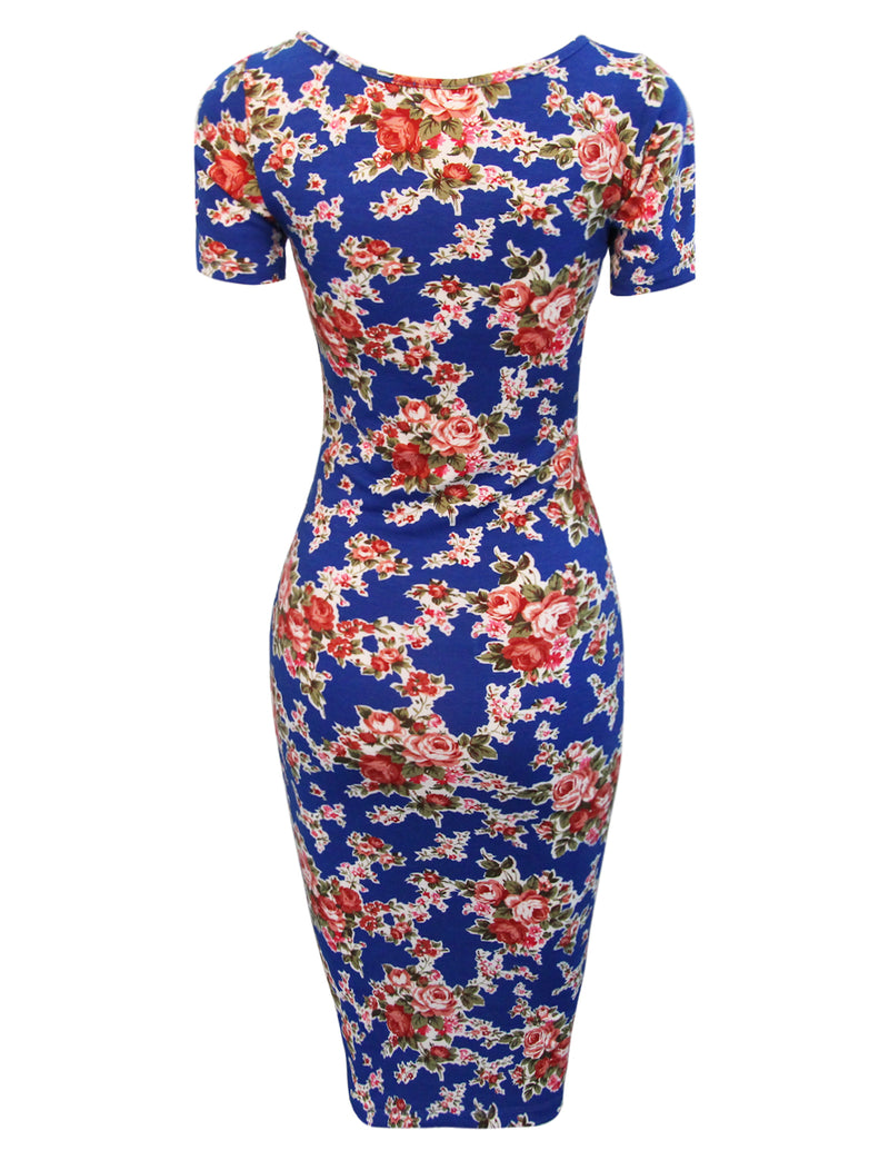 TAM WARE Women's Sweetheart Short Sleeve Midi Dress