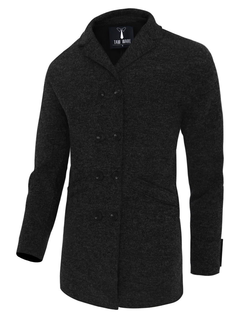 TAM WARE Men's Casual Double Breasted Pea Coat