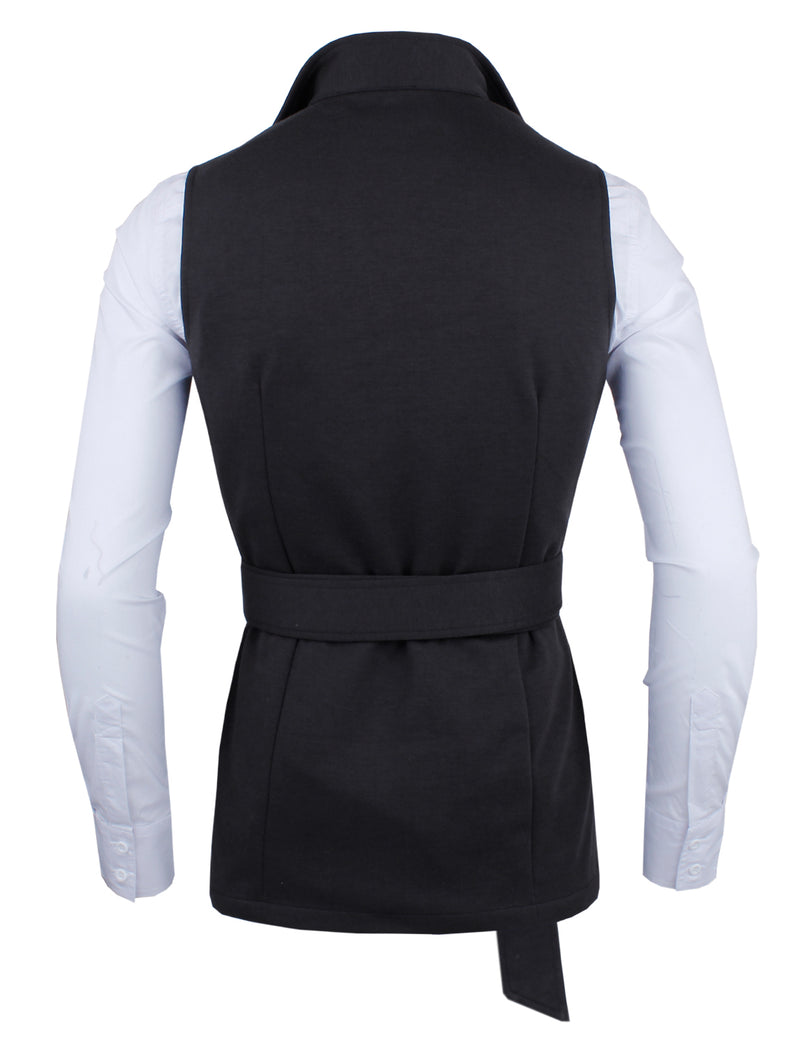 TAM WARE Men's Stylish Slim Fit Vest with Belt