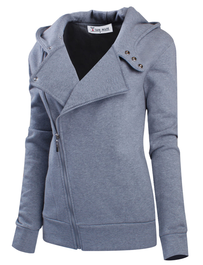 TAM WARE Women's Slim fit Zip-up Hoodie Jacket