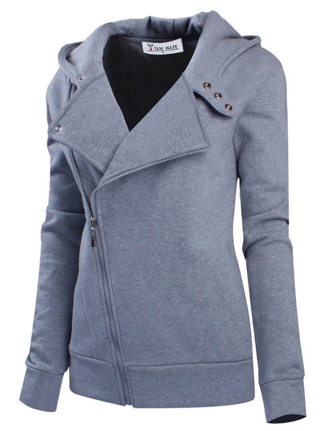TW Women's Slim fit Zip-up Hoodie Jacket
