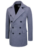 TAM WARE Men's Stretch Wool Blend Trim Fit Pea Coat (TWNFD076J)
