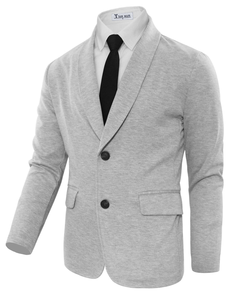 TAM WARE Men's Casual Slim Fit Single Breasted Two Button Blazer