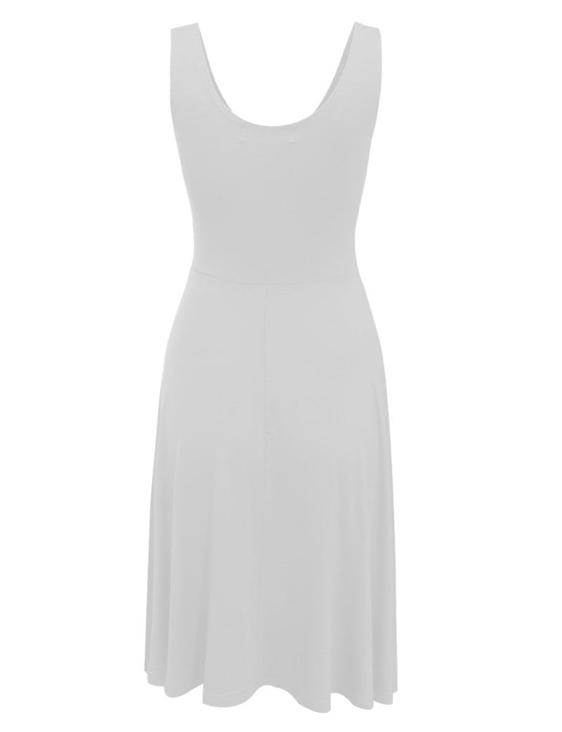 TAM WARE Women's Casual Fit and Flare Sleeveless Dress