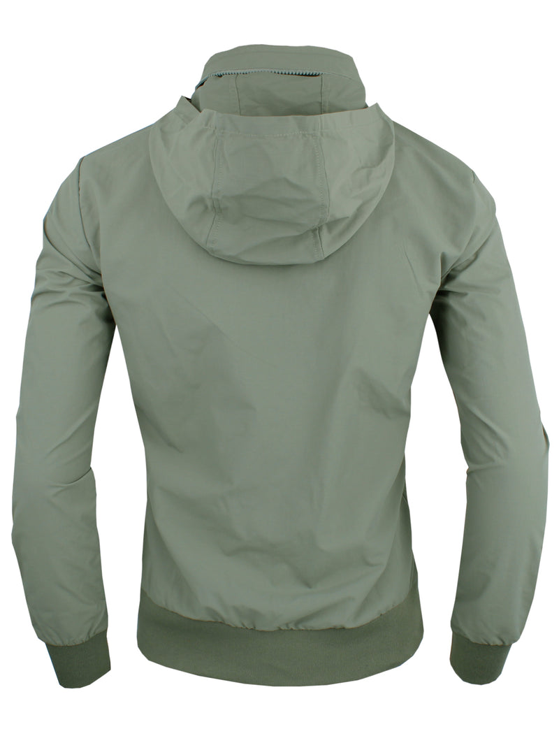 TAM WARE Men's Stylish Zip Up Hidden Hoodie Windbreaker Jacket
