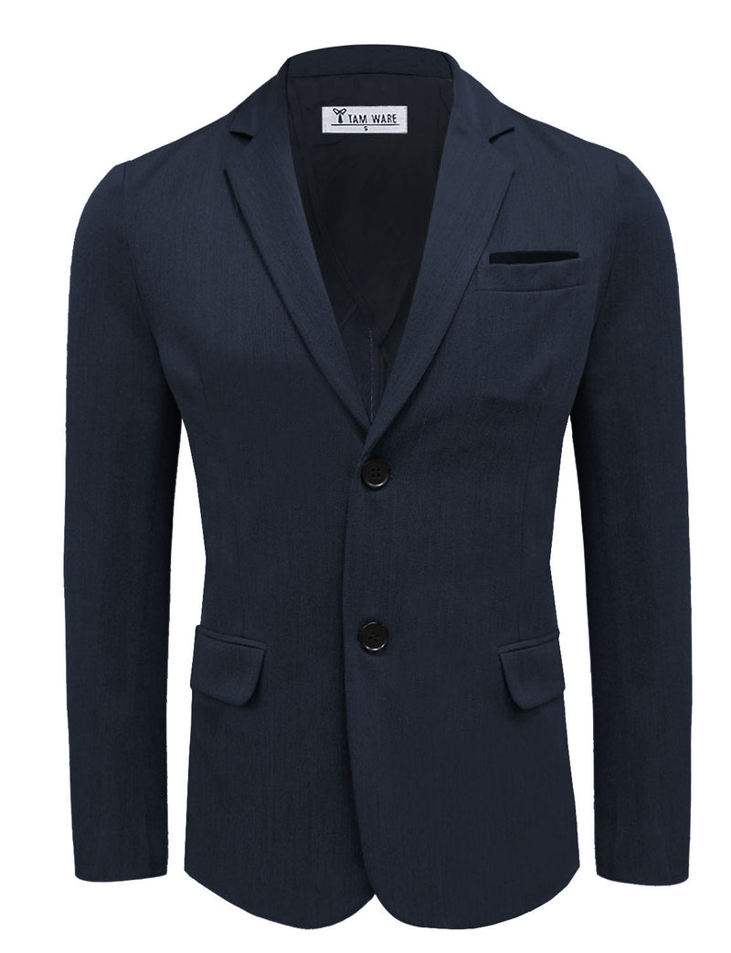 TAM WARE Men's Stylish Two Button Notched Lapel Single Breasted Blazer