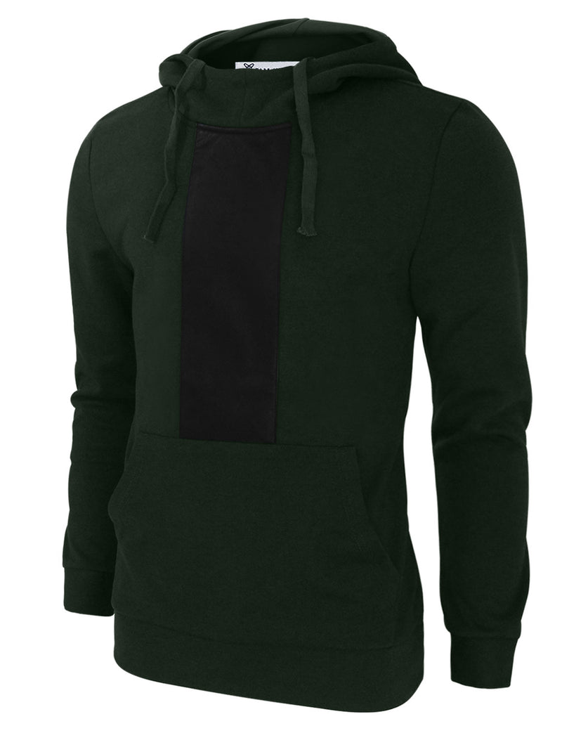 TAM WARE Men's Stylish Slim Fit Highneck Long Sleeve Drawstring Hoodie