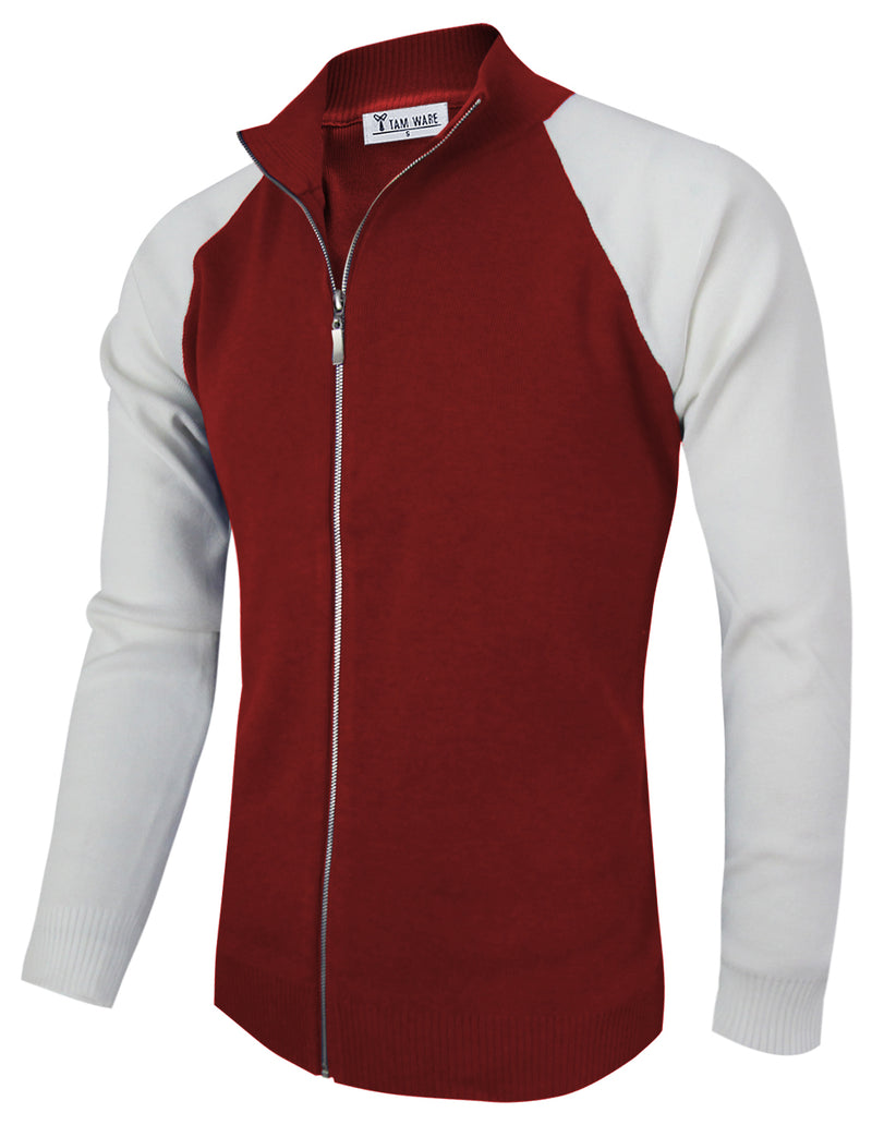 TAM WARE Men's Stylish Colorblocked Full Zip Sweatshirts