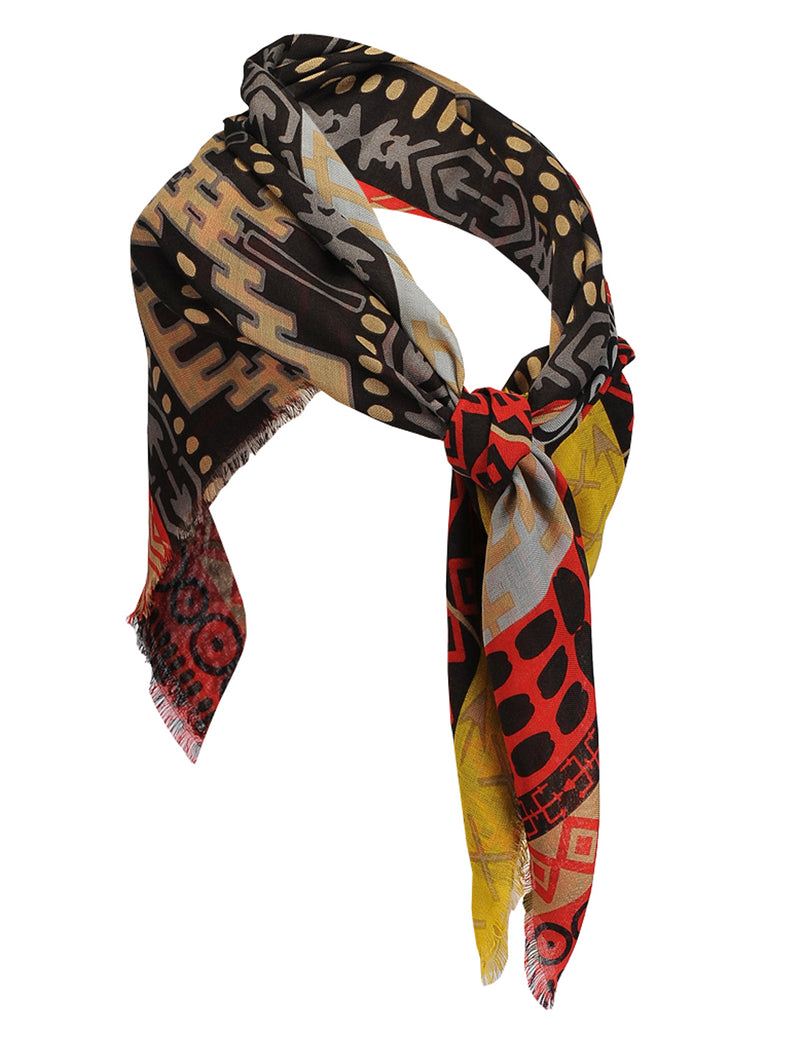 TAM WARE Women's Stylish Abstract Print Soft Scarf