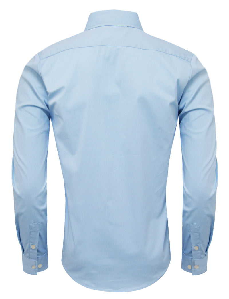 TAM WARE Men's Classic Long Sleeve Solid Dress Shirt