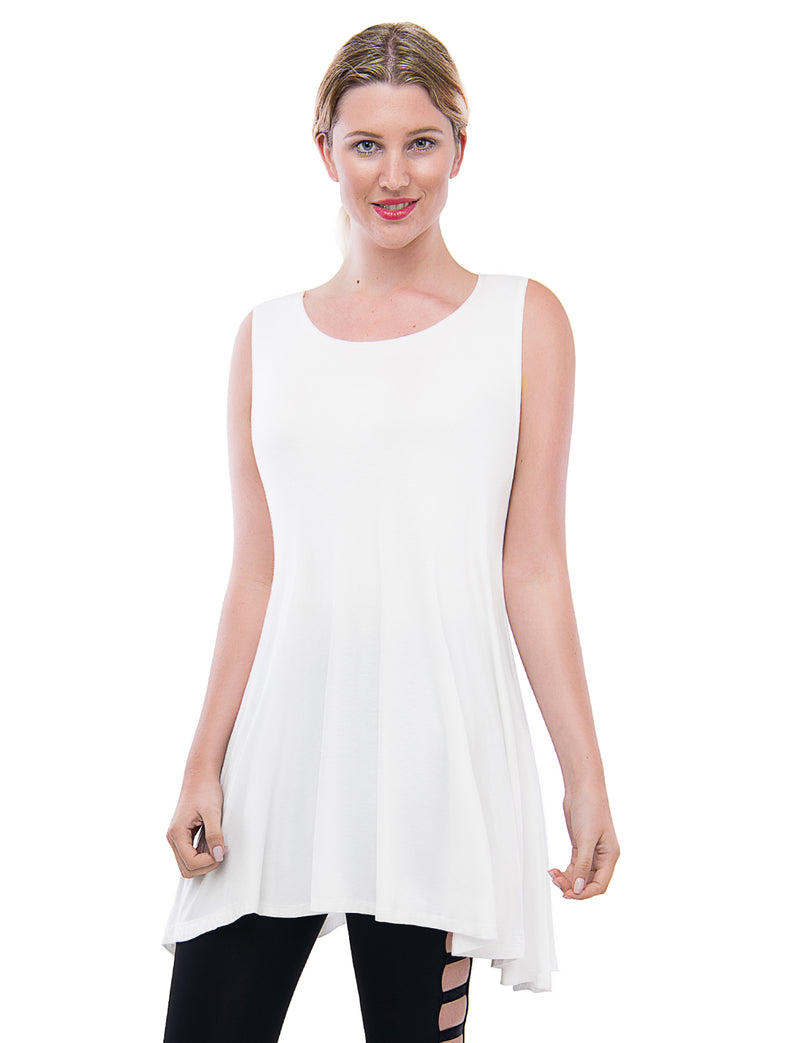 TAM WARE Women's Handkerchief Hem Fit and Flare T-Shirt Dress ( Made in USA)-TWAW123