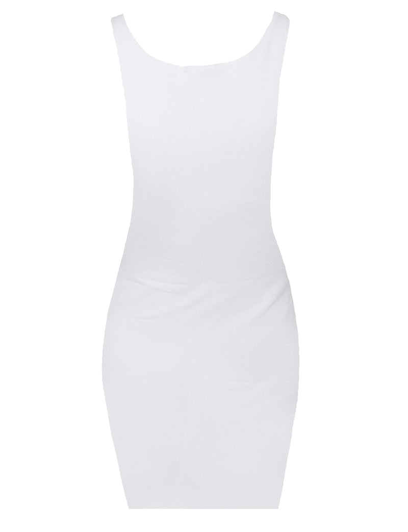TAM WARE Women's Classic Slim Fit Tank Bodycon Mini Tee Dress