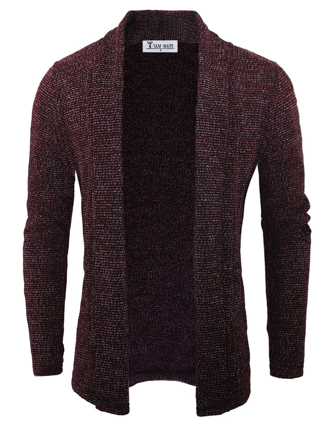 TAM WARE Mens Classic Slim Fit Knit Open-Front Cardigan