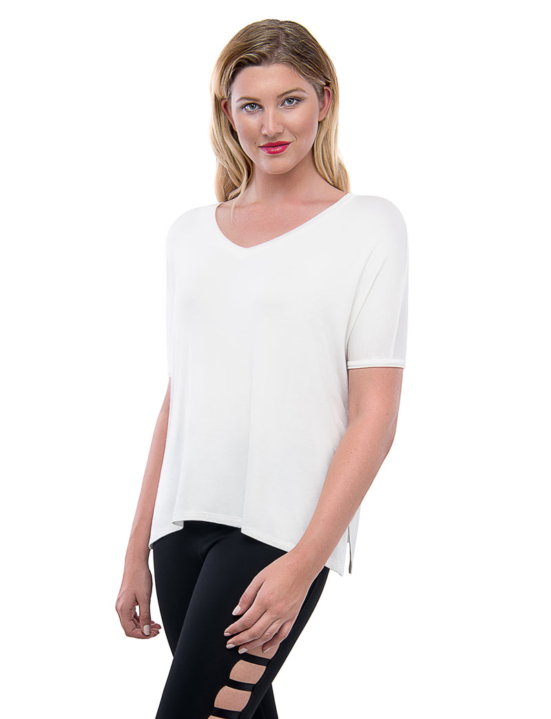 TAM WARE Women's Loose Fit Dolman Sleeve Top T-Shirt (TWAW122)