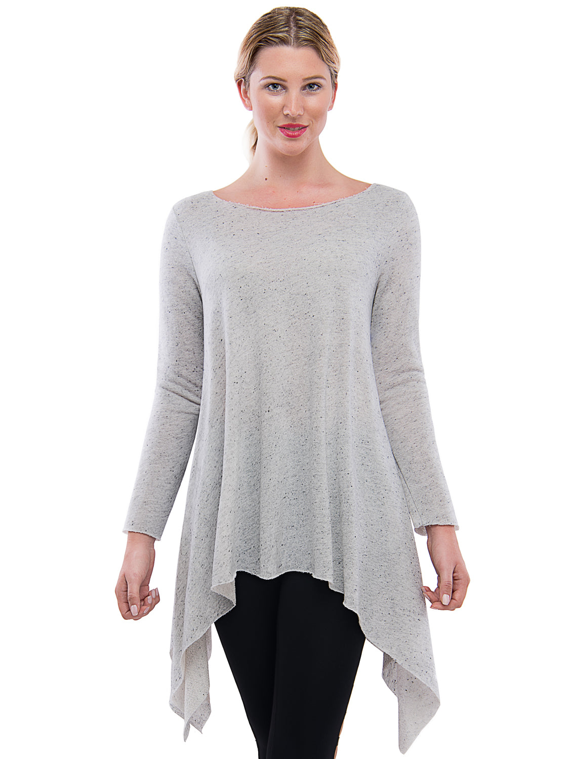 2fd8e33a266 TAM WARE Women's Stylish Long Sleeve French Terry Tunic Top (Made in  USA)-TWAWD2167