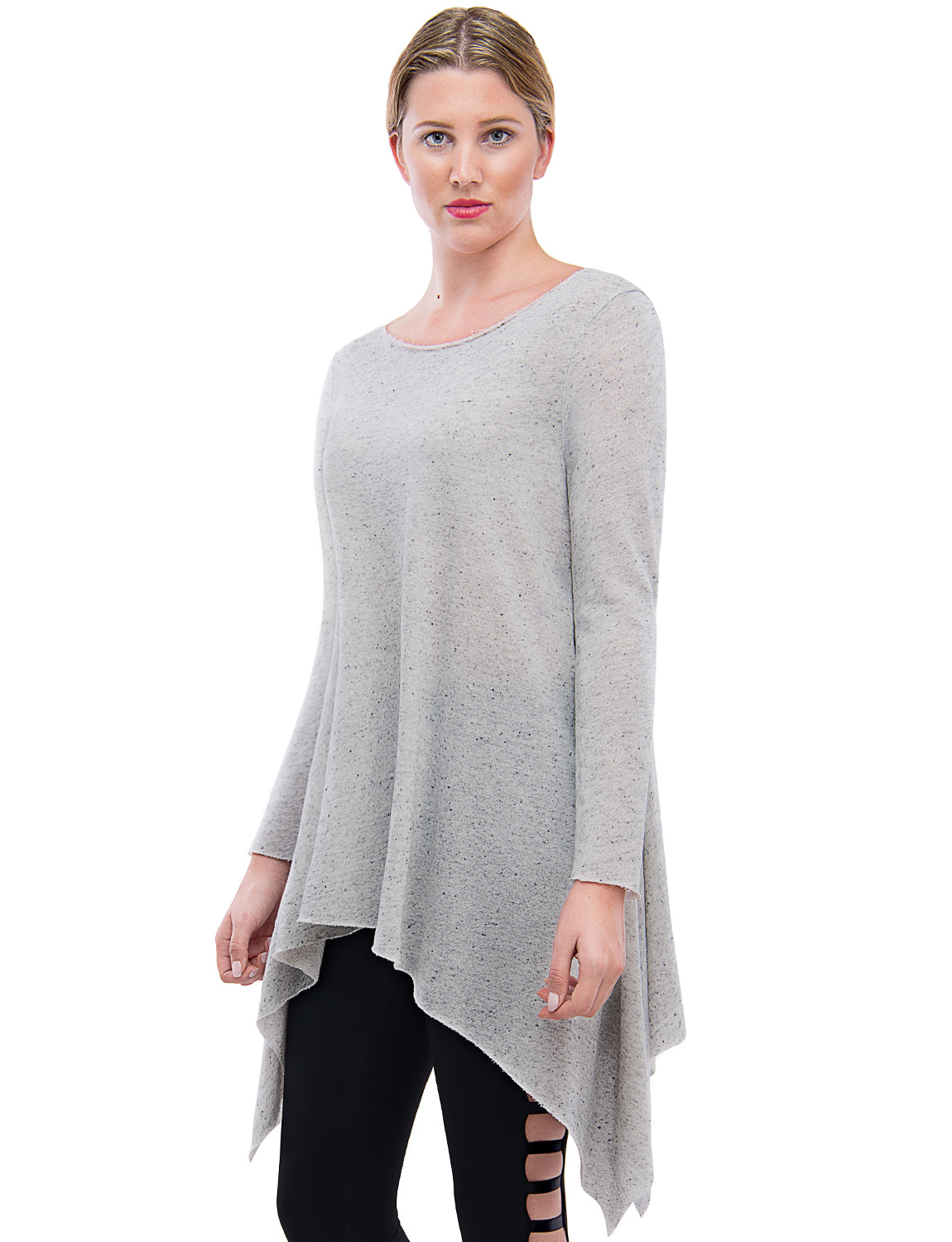 bf44182a4db ... TAM WARE Women s Stylish Long Sleeve French Terry Tunic Top (Made in ...