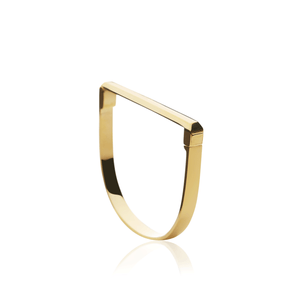 Facet Bangle - gold plate - Collectors Items Jewelry