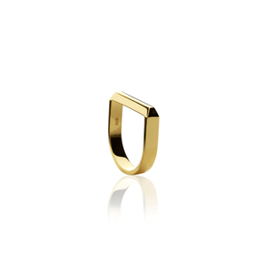 Facet Ring - gold plate - Collectors Items Jewelry