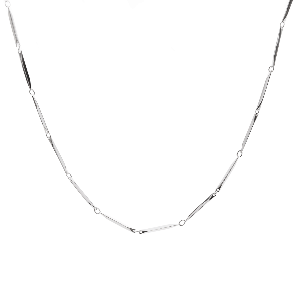 Illusion Necklace - silver bar chain - Collectors Items Jewelry