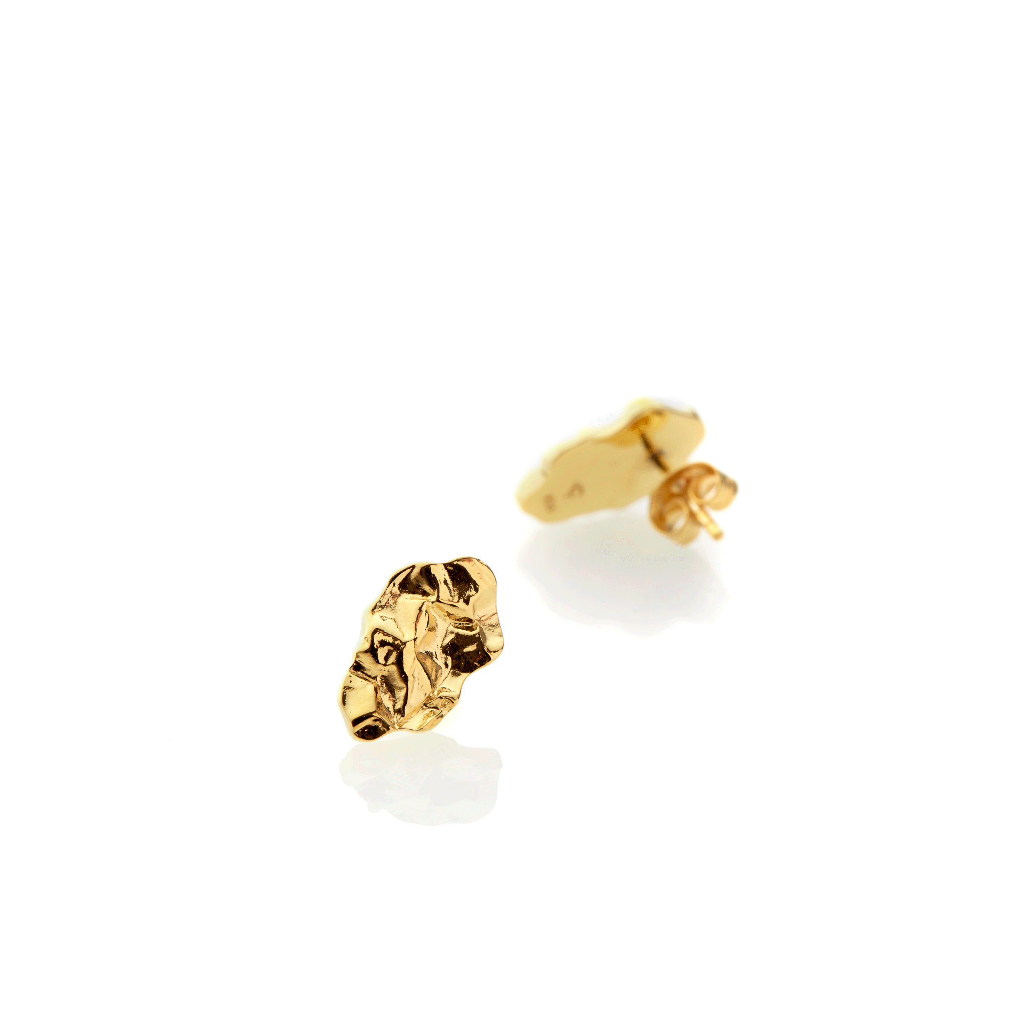 Fragment Earrings small - gold plate - Collectors Items Jewelry
