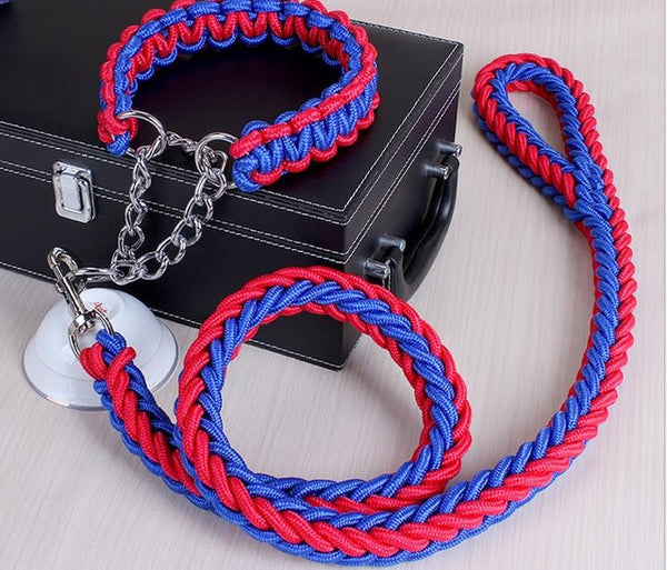 High Quality Large Dog Traction Rope Collar Set