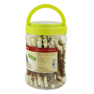 Beef Wrap Pigskin Dental Sticks 340g/barrel